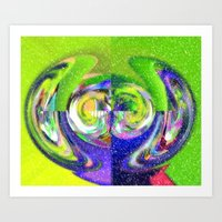 Abstract w snow Art Print