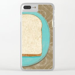 Bread and Coffee Clear iPhone Case