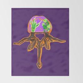 Lumbar Vertebra Terrarium Throw Blanket