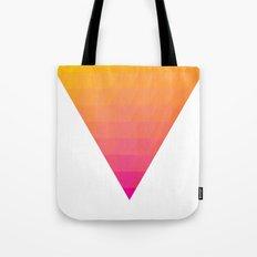 Orange Magenta Triangle Gradient Tote Bag