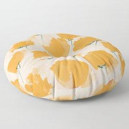 The Yellow Flowers Floor Pillow