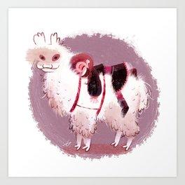 Alpaca Love Art Print