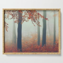 Dreamy November Forest Serving Tray