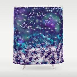 Star and Diamond Rain Shower Curtain