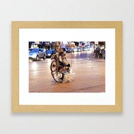 Performance Art on the Streets of Bucktown, Chicago 02 Framed Art Print