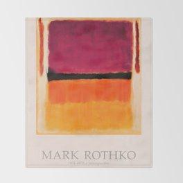 Mark Rothko Exhibition poster 1979 Throw Blanket