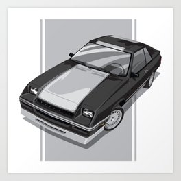 1983S L-Body Charger Black Art Print