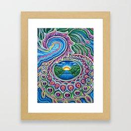 Sunrise Dragon Splash Framed Art Print