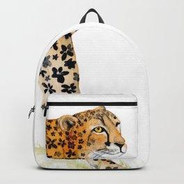 Flower Pattern Cheetah Backpack