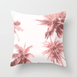 California Dreamin' in Pink Throw Pillow