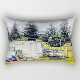 abonded camper in new zealand Rectangular Pillow
