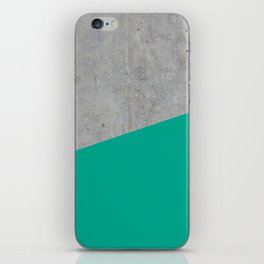 Concrete with Arcadia Color iPhone Skin