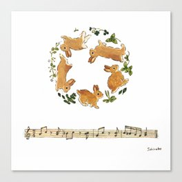 Bunny's footsteps Canvas Print