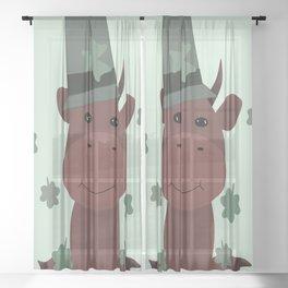 St Patrick  Sheer Curtain