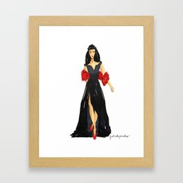 Fancy Holiday Framed Art Print