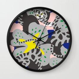 Tiger & Flower Wall Clock