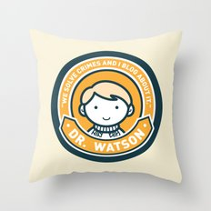 Cute John Watson - Orange Throw Pillow
