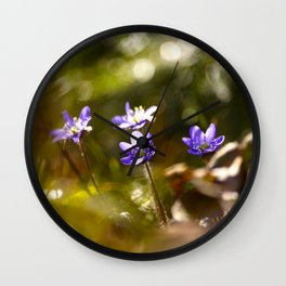 Beautiful Surprise In Spring Forest Wall Clock