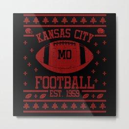 Kansas City Football Fan Gift Present Idea Metal Print