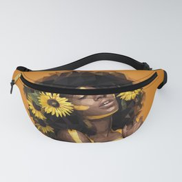 Sunflower Woman Fanny Pack