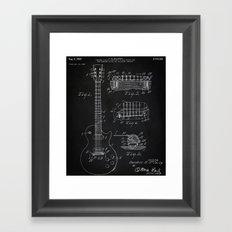 Gibson Guitar Patent Les Paul Vintage Guitar Diagram Framed Art Print
