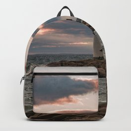 Annisquam Lighthouse sunset Backpack