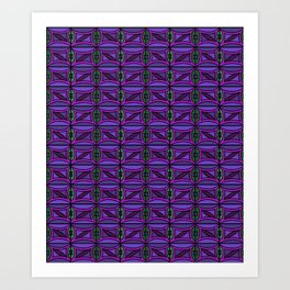 Purple print #1 Art Print