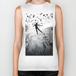Birds in the head Biker Tank