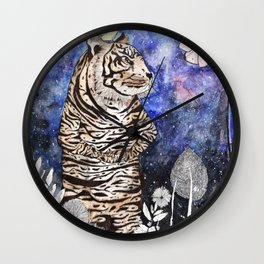 The tiger would rather be a bird Wall Clock