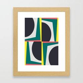 Modern Geometric 65 Green Framed Art Print