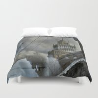 moscow Duvet Covers featuring Moscow Reflected by Brandon Beacon Hill