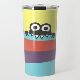 Yummy Colorful Stripes Cute Cartoon Character Travel Mug