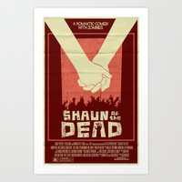 shaun of the dead Art Prints featuring Shaun of the Dead by Mark Welser