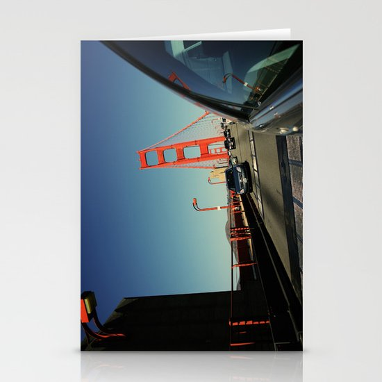 Golden Gate Bridge; Mid-Crossing. Stationery Cards
