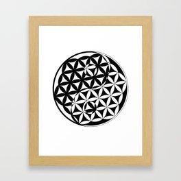 Yin Yang Flower Framed Art Print