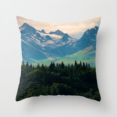 Escaping from woodland heights II Throw Pillow