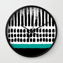 November Forest abstract pattern Wall Clock