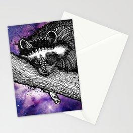 Galaxy Raccoon Stationery Cards