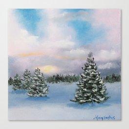 Sunset Winter Snow Canvas Print