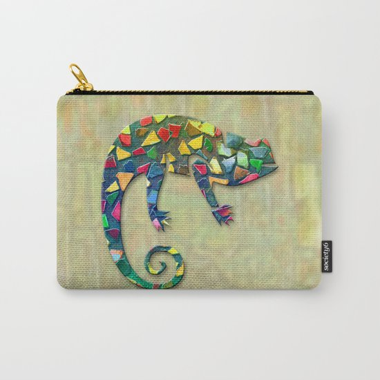 Animal Mosaic - The Chameleon Carry-All Pouch