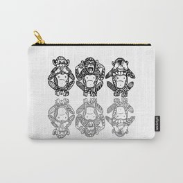 Wise Monkeys Carry-All Pouch