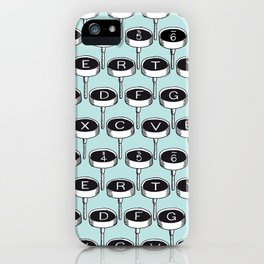 Infinite Typewriter_Mint iPhone Case