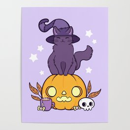 Pumpkin Cat Poster