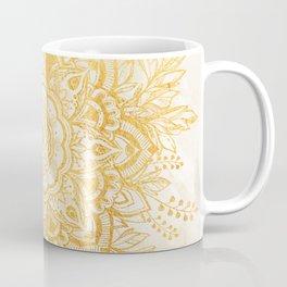 Queen Starring of Mandala-Gold Sunflower II Kaffeebecher
