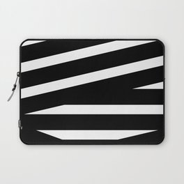 Abstract black & white Lines Stripes Pattern - Mix and Match with Simplicity of Life Laptop Sleeve