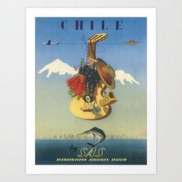 Vintage poster - Chile Art Print