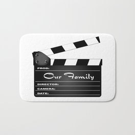 Our Family Clapperboard Bath Mat