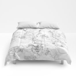 Gray Marble Background Comforters