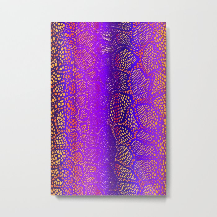 Colorful Snake Skin Metal Print