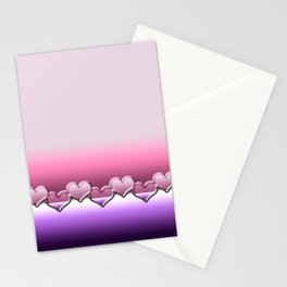 Heart lenses pattern Stationery Cards